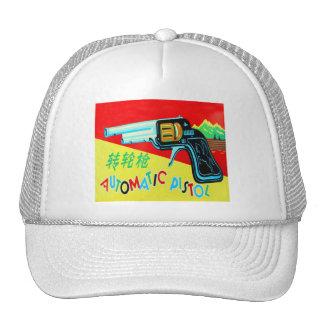 Vintage Kitsch Made in Japan Toy Pistol Trucker Hat