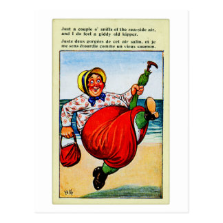 Vintage Kitsch Old Lady The Old Kipper Postcard