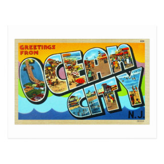 Vintage Kitsch Postcard Ocean City NJ New Jersey
