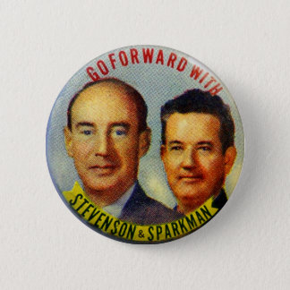 Vintage Kitsch Stevenson Sparkman Political Button