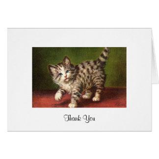 Vintage Kitten Card Greeting Card