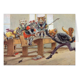 Vintage - Kittens Fear a Mouse, Card