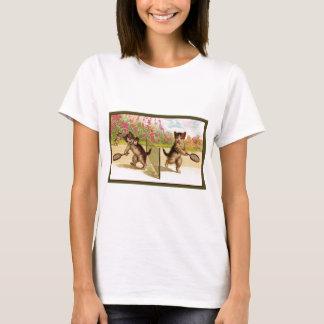 Vintage kittens Playing Cat Tennis T-Shirt