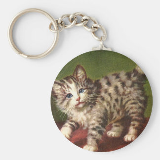 Vintage Kitty Key Chain
