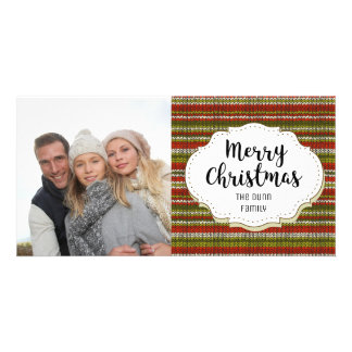 Vintage Knit Sweater Christmas Photo Card
