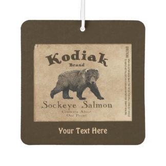 Vintage Kodiak Salmon Label Air Freshener