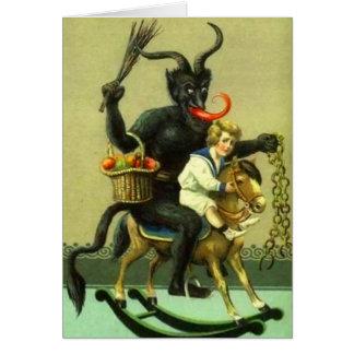Vintage Krampus Card