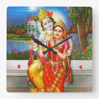 VINTAGE Krishna India Canada Square Wall Clock
