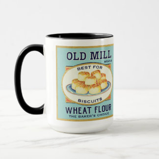 Vintage Label Coffee Mug Biscuit Flour