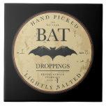 Vintage Label Halloween Bat Tile Trivet