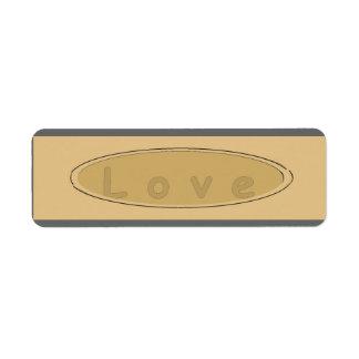 Vintage Label Love Return Address Label