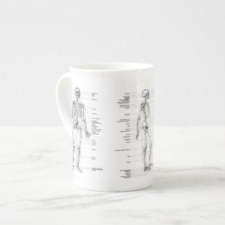 Vintage - Labeled Skeleton - Front, back & Side Tea Cup