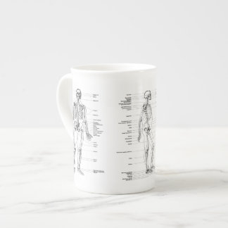 Vintage - Labelled Skeleton - Front, back & Side Tea Cup