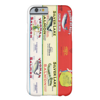 Vintage Labels Art Canned Salmon Fish Fishing Chum Barely There iPhone 6 Case