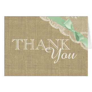 Vintage Lace Baby Shower Thank you Note Card