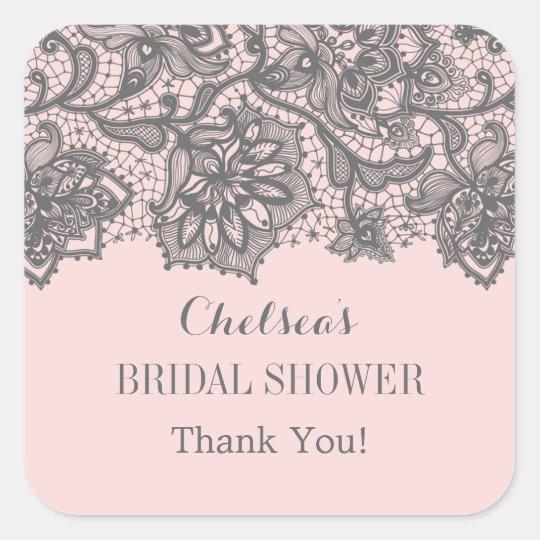 Vintage Lace Bridal Shower Favour Sticker