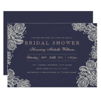 Vintage Lace Bridal Shower Invitation