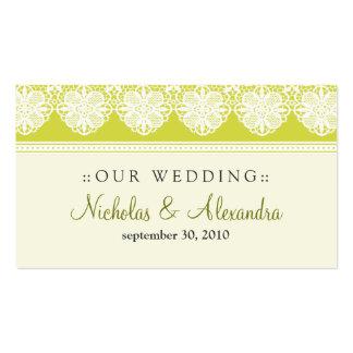 Vintage Lace Citrus Wedding Website Card Business Card Templates
