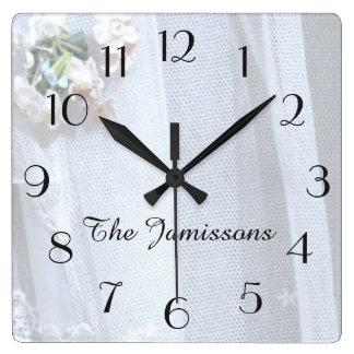 Vintage Lace, Clock, Personalized Clock
