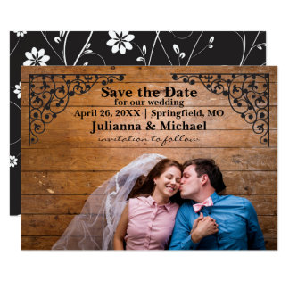 Vintage Lace Corners - 3x5 Save the Date Card