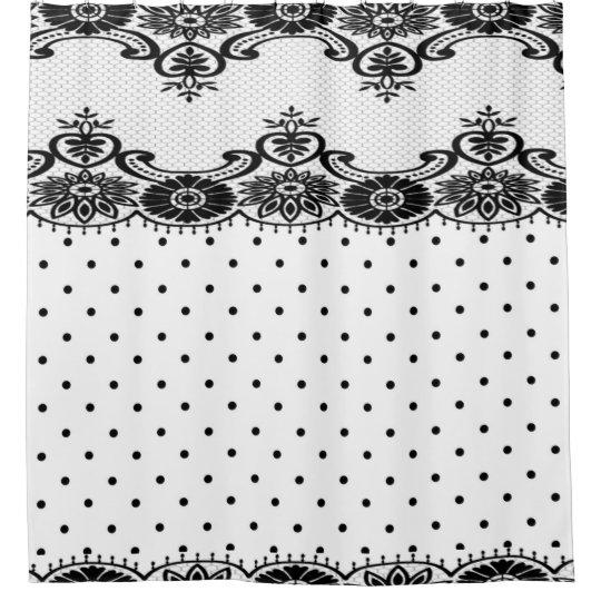 """' Vintage Lace _Dots-Floral_Blk & White Classic"""""""