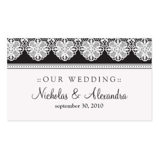 Vintage Lace Ebony Wedding Website Card Business Card Templates