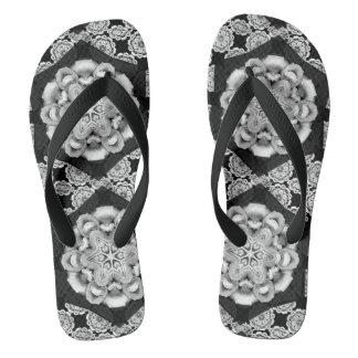 Vintage Lace Flip Flops
