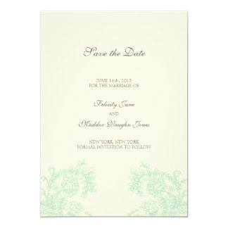 Vintage Lace | Grayed Jade | Save the Date Personalized Announcements