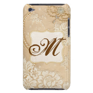 Vintage Lace Jewelry Monogram Initial IPOD Touch iPod Touch Case-Mate Case