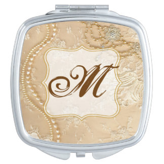 Vintage Lace Jewelry Victo Monogram Compact Mirror