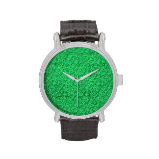 Vintage Lace Leaf Floral Green Wristwatches