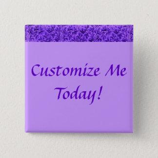 Vintage Lace Leaf Purple 2 Inch Square Button