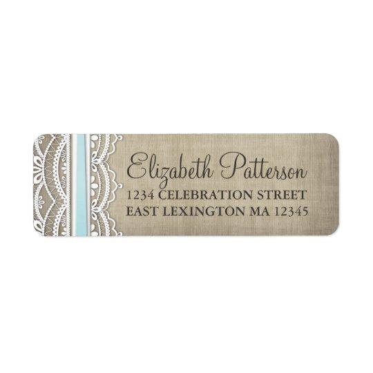 Vintage Lace & Linen Rustic Elegance Address Label