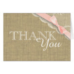 Vintage Lace Pink Baby Shower Thank you Greeting Cards