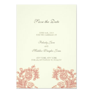 Vintage Lace | Poppy | Save the Date Custom Announcement