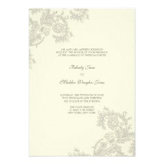 Vintage Lace | Silver | Wedding Invitation