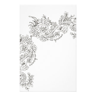Vintage Lace Tattoo Look Stationery