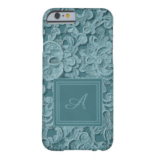 Vintage Lace Turquoise Custom Monogram Cell Case