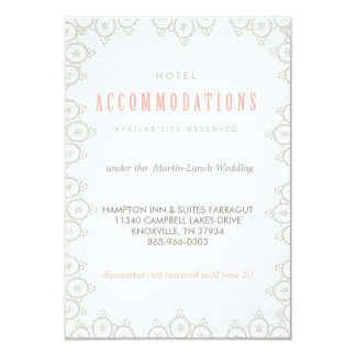 "VINTAGE LACE WEDDING HOTEL CARD accommodations car 3.5"" X 5"" Invitation Card"