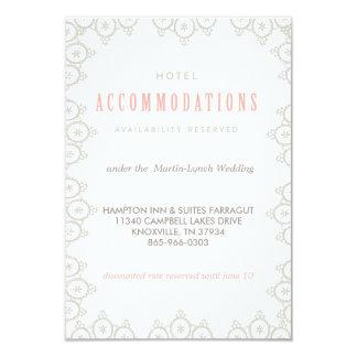 "VINTAGE LACE WEDDING HOTEL CARD accommodations car 3.5"" X 5"" Invitation Card"