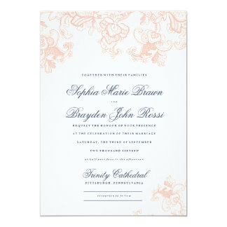 Vintage Lace Wedding Invitation - Spring Lace