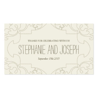 Vintage Lace Wedding Invitations // Cream Business Card Template