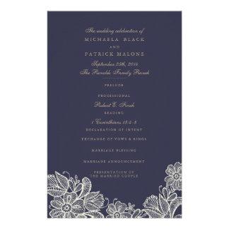 Vintage Lace Wedding Programs
