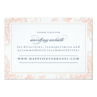 VINTAGE LACE WEDDING website card