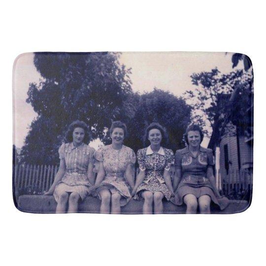Vintage Ladies Bath Mat Rug