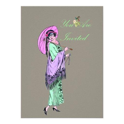 Vintage Ladies Fashion Invite