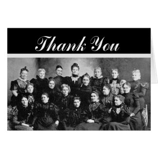 Vintage Ladies' Group Thank You Card