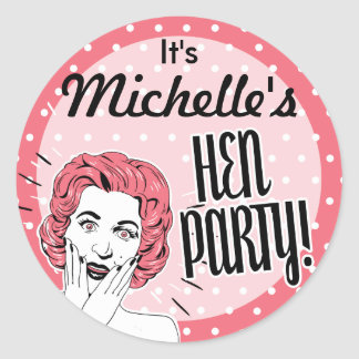 Vintage Ladies Hen Party Stickers
