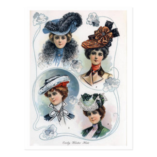 Vintage Ladies in Hats Postcard