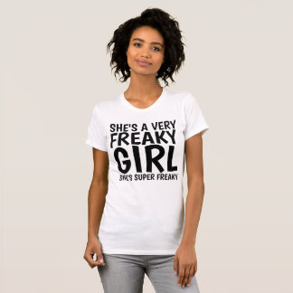 Vintage Ladies T-shirts. SHE'S A VERY FREAKY GIRL T-Shirt